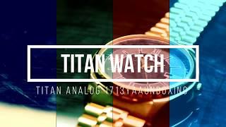 Unboxing Titan 1713YM04 Gold Watch | Titan Black Dial Analog Watch for Men