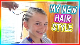 KAYLA GETS A NEW HAIR STYLE | DAVISES VACATION