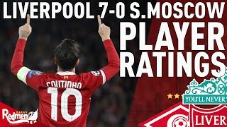 Coutinho Gets A 10! | Liverpool v Spartak Moscow 7-0 | Jonathan's Player Ratings