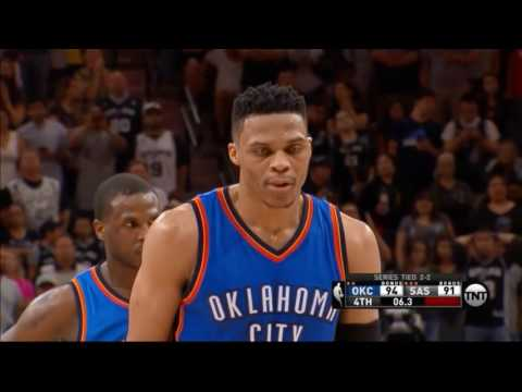 Russel Westbrook's game-winning And1 vs Spurs for 3-2 lead!