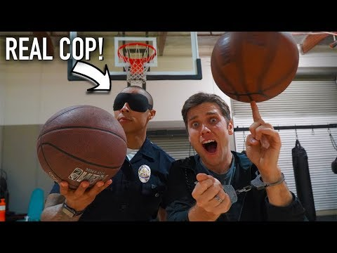 Xxx Mp4 Challenging A POLICE OFFICER To Basketball Trick Shot WORLD RECORDS And HORSE Rematch 3gp Sex