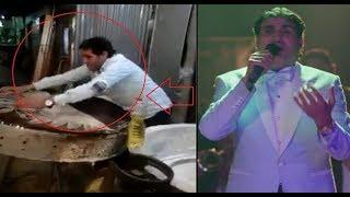 النجم احمد شيبه بيعمل كنافه في الشارع بعد لعب الزهر!!