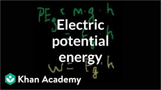 Electric potential energy | Electrostatics | Electrical engineering | Khan Academy
