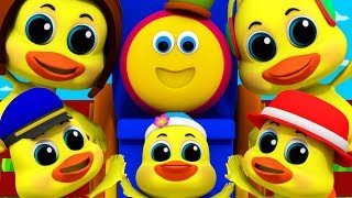 Five Little Ducks | Bob The Train Videos For Children | Nursery Rhymes For Children by Kids Tv