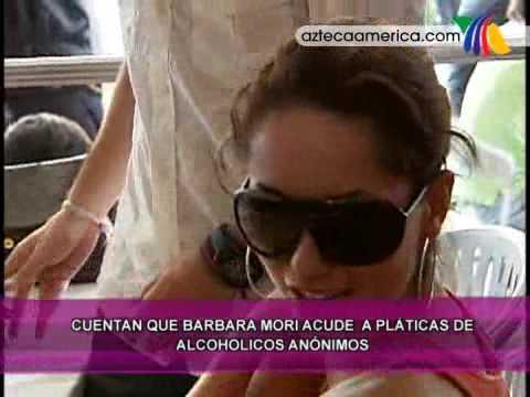 Barbara Mori en Alcohólicos Anónimos