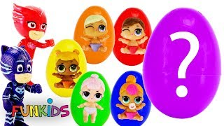 Giant LOL Surprise Egg - Color Changing Lil Baby Sisters with PJ Masks
