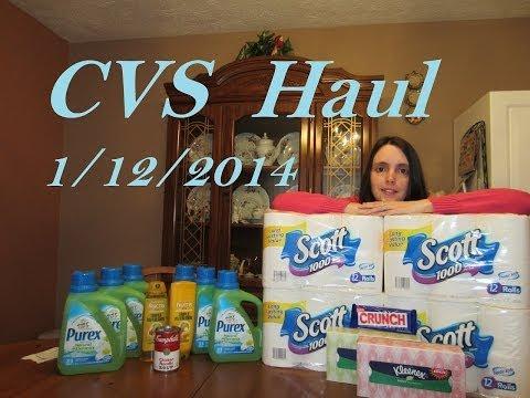 CVS haul for 1/12/2014