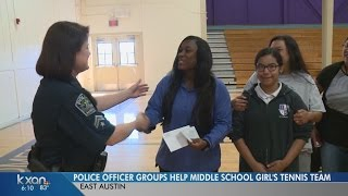 Austin police officers helping middle school students bring their A-game