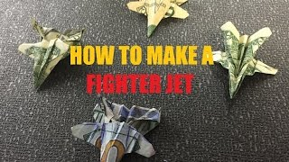 How to make a Origami Fighter Jet Plane Dollar