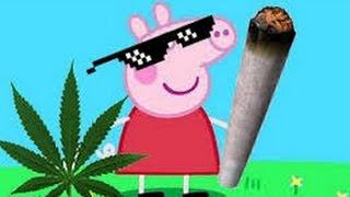 Peppa Pig plays grown up music. (Gangster rap)