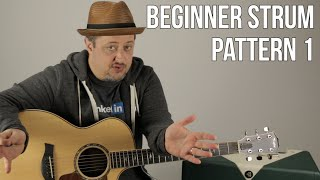 Beginner Strumming Patterns For Acoustic Guitar Pattern 1 - Beginner Guitar Lessons