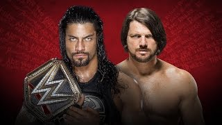WWE EXTREME RULES 2016 - Roman Reigns Vs AJ Styles