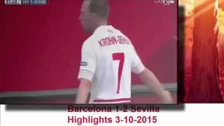 Barcelona vs Sevilla Highlights 1/ 2  3 /10/ 2015
