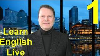 Learn English Live with Steve Ford - Lesson One