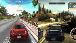 Need for Speed Most Wanted vs Asphalt 6 Adrenaline Gameplay