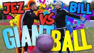 GIANT FOOTBALL PENALTY SHOOT OUT! | BILLY WINGROVE VS JEREMY LYNCH