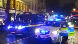 12 London Police Vans Rush To Scene