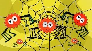 Incy Wincy Spinnen | Spinnenreim für Kinder | Kinderlied | Baby Rhymes | Itsy Bitsy Spider
