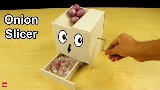 WOW! How to Make Onion Slicer Machine You Can Make it at Home