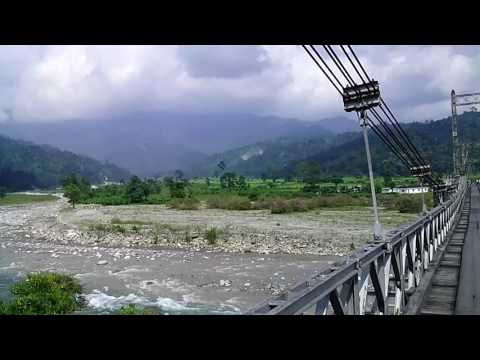 Hanging Bridge, Lal Jhamela Basti, Banarhat, Jalpaiguri, West Bengal.