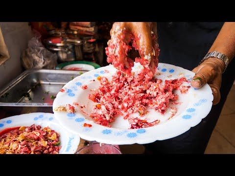 WARNING Raw Blood Indonesian Food Authentic Village Food in Bali Indonesia