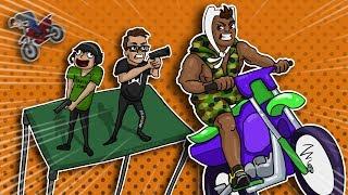 GTA 5 Funny Moments - Flying Vehicles VS Rocket Launchers & Pistols Battle!