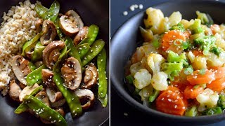 3 Vegan Veggie Bowls Under 400 Calories (HUGE)