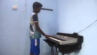 maan karate bgm in keyboard
