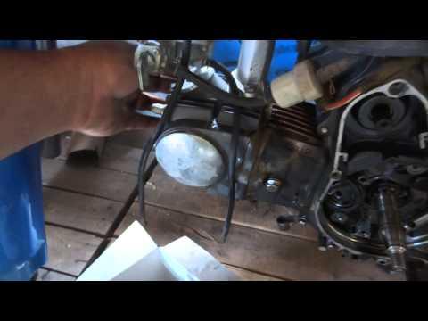 como cambiar cadena de distribución en motos 110 cc y 70 cc parte 1