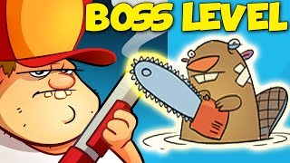 Swamp Attack - INSANE BOSS LEVEL - Chainsaw Beaver Boss Episode 1