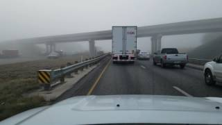 Fog accident in San Antonio TX