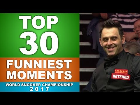 TOP 30 FUNNIEST MOMENTS World Snooker Championship 2017