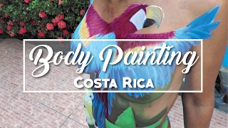 Body Painting At Clothing Optional Resort | Costa Rica