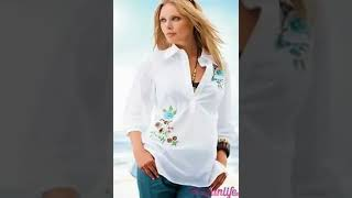 White shirt and blouse models