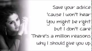 Selena Gomez   Heart Wants What It Wants (Paroles, Lyrics)