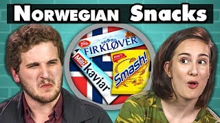 COLLEGE KIDS EAT NORWEGIAN SNACKS! | College Kids Vs. Food