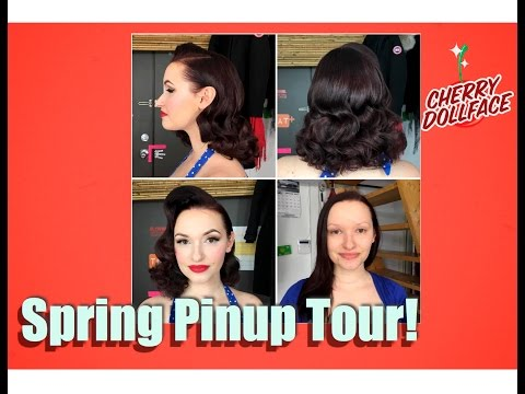 Xxx Mp4 Vintage Hair And Makeup Makeover Tour Spring 2017 By CHERRY DOLLFACE 3gp Sex