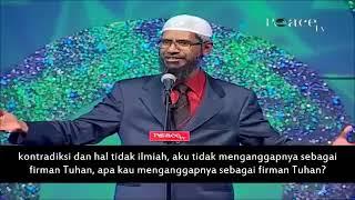 Dr Zakir Bedebat Dengan Pemuda Kristian Sehingga TERDIAM!!! Dr Zakir Naik Malay Subtitle