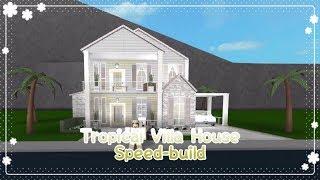Bloxburg - Tropical Villa House Speed-build