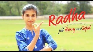 Radha - jab Harry met Sejal || Sharukh khan ||Team Nrithya|| cover song Dance video