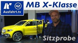 Weltpremiere Mercedes-Benz X-Klasse Pickup Sitzprobe