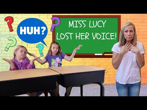 Miss Lucy Loses Her Voice at Pretend Toy School
