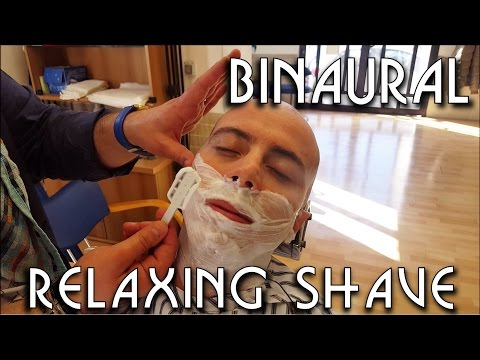 💈 Traditional Barber - complete Shave and Massage  - ASMR BINAURAL no talking