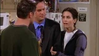 FRIENDS - Joey covers up for Chandler and Monica