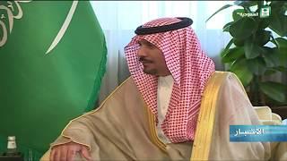 الأمير خالد بن عياف يستقبل قائد القيادة التجهيزات والمعدات بالجيش الأمريكي الفريق أول . غوستاف بيرنا
