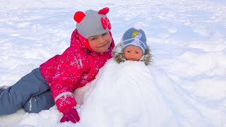 Baby Born Doll on the Outdoor Playground for kids | Entertainment for Children