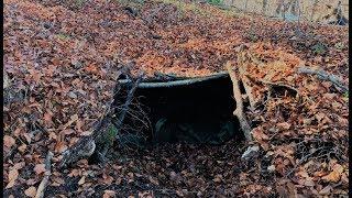 3 Day Winter Survival Underground Shelter Bushcraft Overnighter Trip