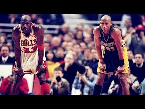 98 Playoffs Bulls vs Pacers Final 1 35 of Game 4 Miller Time