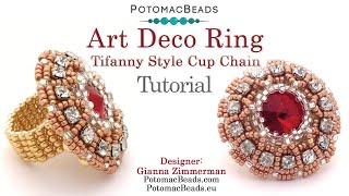Make an 1920's Art Deco Cup Chain Ring