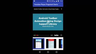 Android Youtube Player Fragment Demo